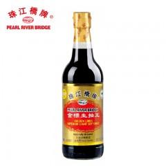 珠江桥牌金标生抽王500ml酱油 非转基因大豆酿造